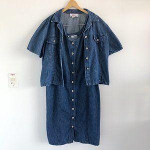2/25 🍉 90s denim matching dress and shirt set